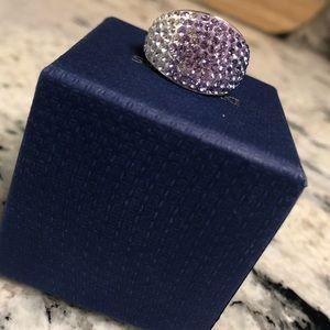 Swarovski Purple Crystal Silver Ring - Size 7 💜